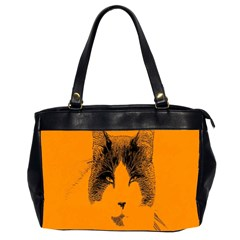 Cat Graphic Art Office Handbags (2 Sides)  by Nexatart