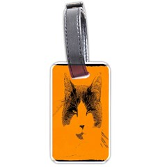 Cat Graphic Art Luggage Tags (one Side)  by Nexatart