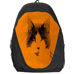 Cat Graphic Art Backpack Bag by Nexatart