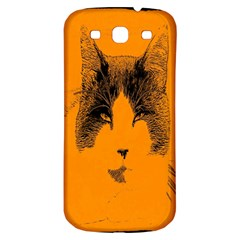 Cat Graphic Art Samsung Galaxy S3 S Iii Classic Hardshell Back Case by Nexatart