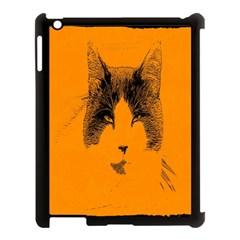Cat Graphic Art Apple Ipad 3/4 Case (black)