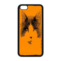 Cat Graphic Art Apple Iphone 5c Seamless Case (black) by Nexatart