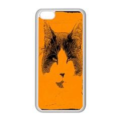 Cat Graphic Art Apple Iphone 5c Seamless Case (white) by Nexatart