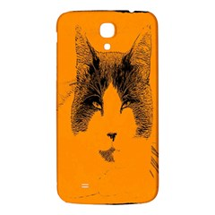 Cat Graphic Art Samsung Galaxy Mega I9200 Hardshell Back Case by Nexatart