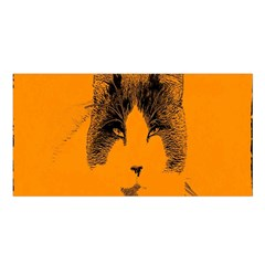 Cat Graphic Art Satin Shawl