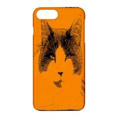 Cat Graphic Art Apple iPhone 7 Plus Hardshell Case by Nexatart