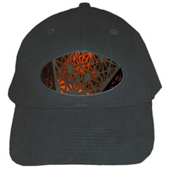 Abstract Lighted Wallpaper Of A Metal Starburst Grid With Orange Back Lighting Black Cap by Nexatart