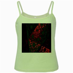 Abstract Lighted Wallpaper Of A Metal Starburst Grid With Orange Back Lighting Green Spaghetti Tank