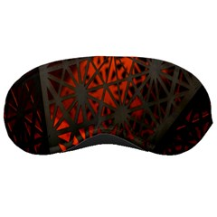 Abstract Lighted Wallpaper Of A Metal Starburst Grid With Orange Back Lighting Sleeping Masks