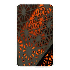Abstract Lighted Wallpaper Of A Metal Starburst Grid With Orange Back Lighting Memory Card Reader by Nexatart