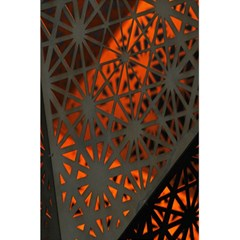 Abstract Lighted Wallpaper Of A Metal Starburst Grid With Orange Back Lighting 5 5  X 8 5  Notebooks by Nexatart