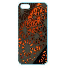 Abstract Lighted Wallpaper Of A Metal Starburst Grid With Orange Back Lighting Apple Seamless Iphone 5 Case (color)