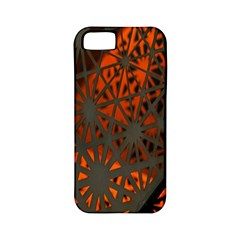 Abstract Lighted Wallpaper Of A Metal Starburst Grid With Orange Back Lighting Apple Iphone 5 Classic Hardshell Case (pc+silicone) by Nexatart