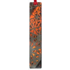 Abstract Lighted Wallpaper Of A Metal Starburst Grid With Orange Back Lighting Large Book Marks by Nexatart