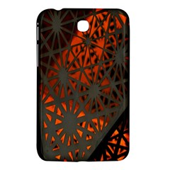 Abstract Lighted Wallpaper Of A Metal Starburst Grid With Orange Back Lighting Samsung Galaxy Tab 3 (7 ) P3200 Hardshell Case  by Nexatart