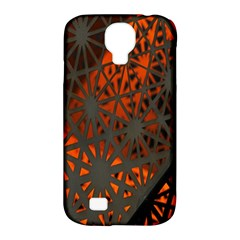 Abstract Lighted Wallpaper Of A Metal Starburst Grid With Orange Back Lighting Samsung Galaxy S4 Classic Hardshell Case (pc+silicone)