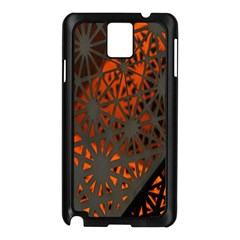 Abstract Lighted Wallpaper Of A Metal Starburst Grid With Orange Back Lighting Samsung Galaxy Note 3 N9005 Case (black)