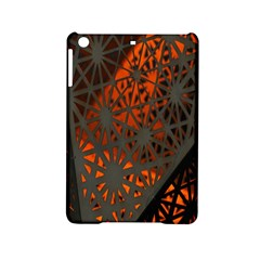 Abstract Lighted Wallpaper Of A Metal Starburst Grid With Orange Back Lighting Ipad Mini 2 Hardshell Cases by Nexatart