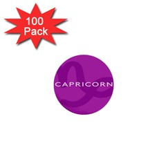 Zodiac Capricorn Purple 1  Mini Buttons (100 Pack)  by Mariart