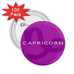 Zodiac Capricorn Purple 2 25  Buttons (100 Pack)  by Mariart