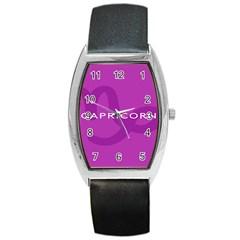 Zodiac Capricorn Purple Barrel Style Metal Watch by Mariart