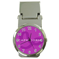 Zodiac Capricorn Purple Money Clip Watches by Mariart