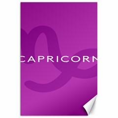 Zodiac Capricorn Purple Canvas 20  X 30   by Mariart