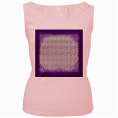 Purple Square Frame With Mosaic Pattern Women s Pink Tank Top