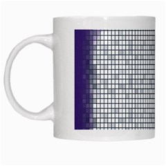 Purple Square Frame With Mosaic Pattern White Mugs by Nexatart