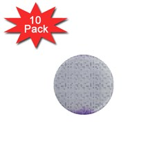 Purple Square Frame With Mosaic Pattern 1  Mini Magnet (10 Pack)  by Nexatart