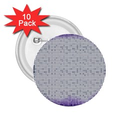 Purple Square Frame With Mosaic Pattern 2 25  Buttons (10 Pack)  by Nexatart
