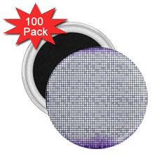 Purple Square Frame With Mosaic Pattern 2 25  Magnets (100 Pack)  by Nexatart