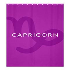 Zodiac Capricorn Purple Shower Curtain 66  X 72  (large)  by Mariart