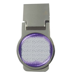 Purple Square Frame With Mosaic Pattern Money Clips (round)  by Nexatart