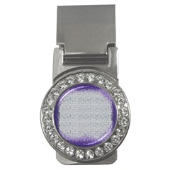 Purple Square Frame With Mosaic Pattern Money Clips (cz)  by Nexatart