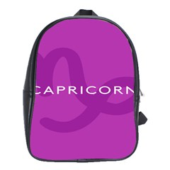 Zodiac Capricorn Purple School Bags(large)  by Mariart