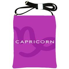 Zodiac Capricorn Purple Shoulder Sling Bags by Mariart
