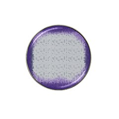 Purple Square Frame With Mosaic Pattern Hat Clip Ball Marker by Nexatart