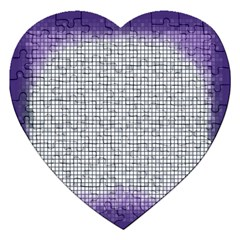 Purple Square Frame With Mosaic Pattern Jigsaw Puzzle (heart) by Nexatart