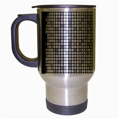 Purple Square Frame With Mosaic Pattern Travel Mug (silver Gray) by Nexatart