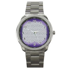 Purple Square Frame With Mosaic Pattern Sport Metal Watch by Nexatart