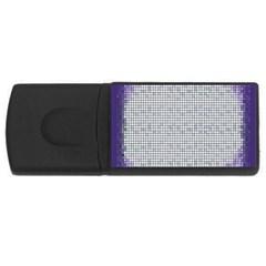 Purple Square Frame With Mosaic Pattern Usb Flash Drive Rectangular (4 Gb) by Nexatart