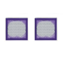 Purple Square Frame With Mosaic Pattern Cufflinks (square) by Nexatart
