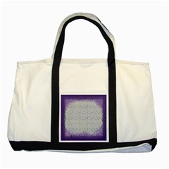 Purple Square Frame With Mosaic Pattern Two Tone Tote Bag by Nexatart