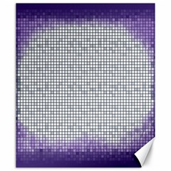 Purple Square Frame With Mosaic Pattern Canvas 20  X 24   by Nexatart