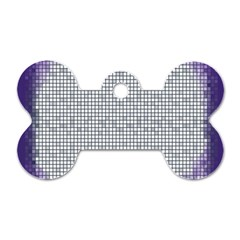 Purple Square Frame With Mosaic Pattern Dog Tag Bone (two Sides) by Nexatart