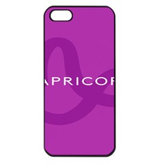 Zodiac Capricorn Purple Apple Iphone 5 Seamless Case (black) by Mariart