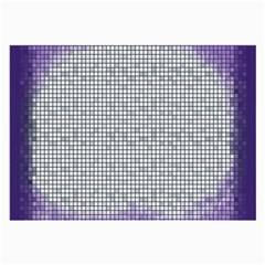 Purple Square Frame With Mosaic Pattern Large Glasses Cloth (2 Side) by Nexatart
