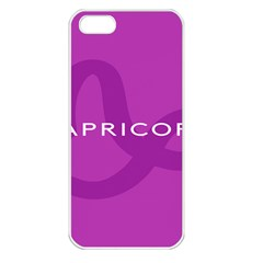 Zodiac Capricorn Purple Apple Iphone 5 Seamless Case (white) by Mariart