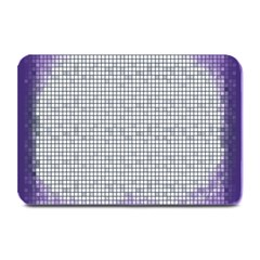 Purple Square Frame With Mosaic Pattern Plate Mats by Nexatart